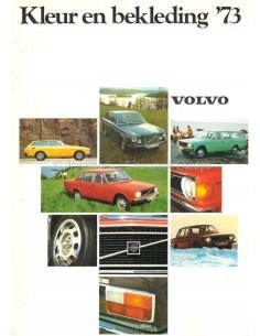 1973 VOLVO FARBEN & INNENAUSSTATTUNG PROSPEKT NIEDERLANDISCH