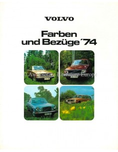 1974 VOLVO COLOURS & INTERIOR BROCHURE GERMAN