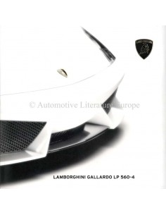 2009 LAMBORGHINI GALLARDO LP 560-4 BROCHURE ENGLISH