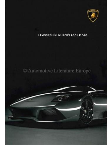 2007 LAMBORGHINI MURCIÉLAGO LP 640 BROCHURE ENGLISH