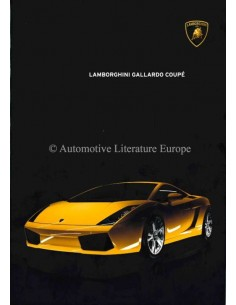 2004 LAMBORGHINI GALLARDO COUPÉ BROCHURE ENGLISH