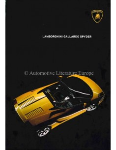 2004 LAMBORGHINI GALLARDO SPYDER BROCHURE ENGLISH