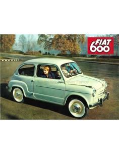 1958 FIAT 600 & 600 MULTIPLA PROSPEKT NIEDERLÄNDISCH