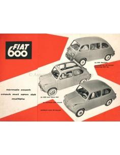 1957 FIAT 600 COACH & 600 MULTIPLA PROSPEKT NIEDERLÄNDISCH