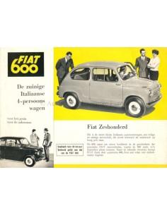 1955 FIAT 600 COACH PROSPEKT NIEDERLÄNDISCH