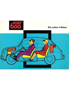1959 FIAT 600 COACH BROCHURE GERMAN