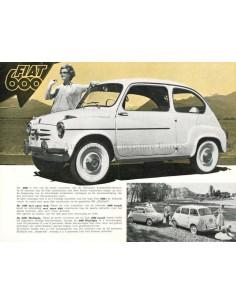 1958 FIAT 600 COACH & 600 MULTIPLA BROCHURE DUTCH