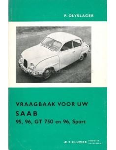 1965 SAAB 95, 96, GT 750 & 96, SPORT REPERATURANLEITUNG NIEDERLÄNDISCH