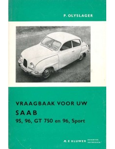 1965 SAAB 95, 96, GT 750 & 96, SPORT WORKSHOP MANUAL DUTCH