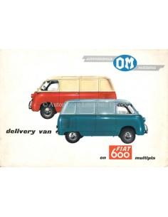 1962 OM FIAT 600 MULTIPLA PROSPEKT ENGLISCH