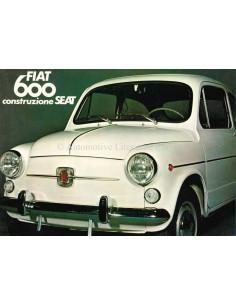 1973 FIAT 600 / SEAT 600 BROCHURE FRANS
