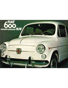 1973 FIAT 600 / SEAT 600 BROCHURE FRENCH