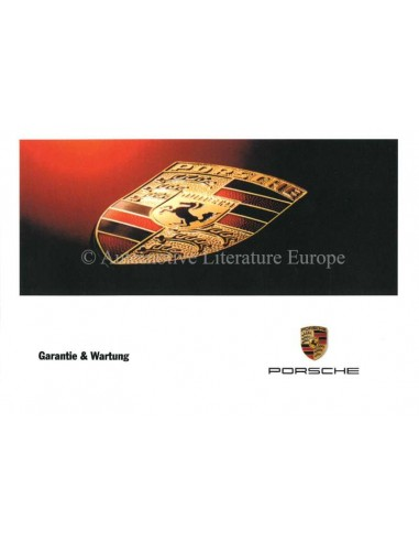 1999 PORSCHE BOXSTER 911 WARRANTY & MAINTENANCE GERMAN
