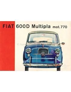 1966 FIAT 600 D MULTIPLA PROSPEKT DEUTSCH