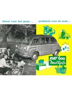 1959 FIAT 600 MULTIPLA PROSPEKT NIEDERLÄNDISCH