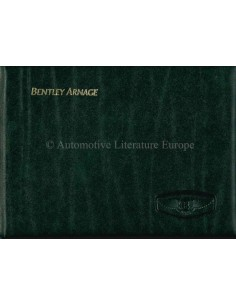 2000 BENTLEY ARNAGE OWNERS MANUAL GERMAN