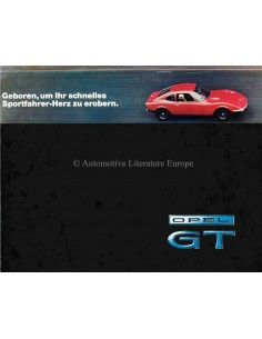 1969 OPEL GT 1100 / GT 1900 BROCHURE DUITS