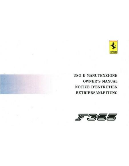 1994 FERRARI F355 INSTRUCTIEBOEKJE 899/94