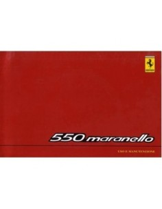 1999 FERRARI 550 MARANELLO OWNERS MANUAL HANDBOOK EURO VERSION