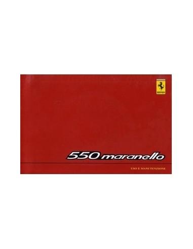 1999 FERRARI 550 MARANELLO INSTRUCTIEBOEKJE EUROPA EDITIE