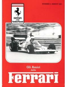 1983 FERRARI GLI AMICI DELLA MAGAZINE 3 NEDERLANDS