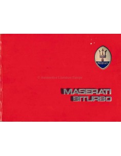 1984 MASERATI BITURBO BETRIEBSANLEITUNG ENGLISCH (USA)