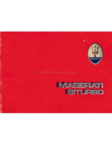 1984 MASERATI BITURBO OWNERS MANUAL ENGLISH (US)