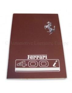 1982 FERRARI 400i BETRIEBSANLEITUNG 250/82