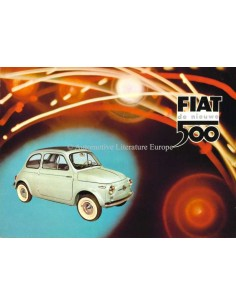 1958 FIAT 500 BROCHURE DUTCH