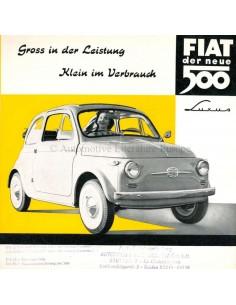 195? FIAT 500 LUXUS BROCHURE DUTCH