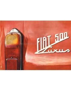195? FIAT 500 LUXUS BROCHURE GERMAN