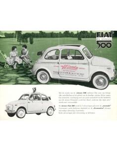 1959 FIAT 500 BROCHURE DUTCH