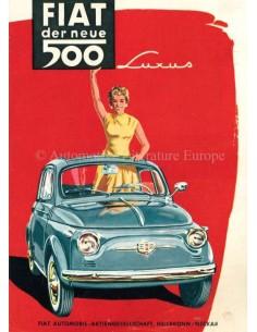 1958 FIAT 500 LUXUS PROSPEKT DEUTSCH