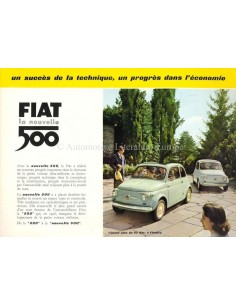 1958 FIAT 500 BROCHURE FRENCH