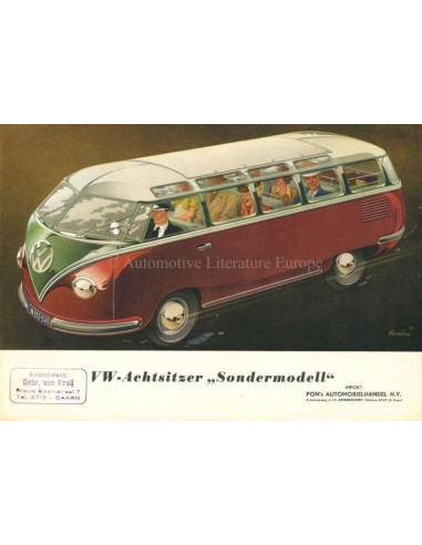 1953 VOLKSWAGEN TRANSPORTER BROCHURE GERMAN
