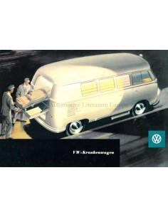 1956 VOLKSWAGEN TRANSPORTER KRANKENWAGEN BROCHURE GERMAN