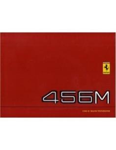1996 FERRARI 456M GT GTA INSTRUCTIEBOEKJE EUROPA EDITIE