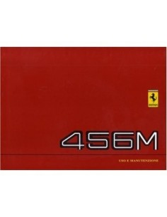 1998 FERRARI 456M GT GTA OWNERS MANUAL HANDBOOK EURO VERSION