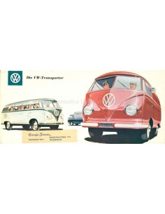 1956 VOLKSWAGEN TRANSPORTER BROCHURE GERMAN