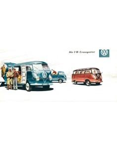 1955 VOLKSWAGEN TRANSPORTER BROCHURE GERMAN