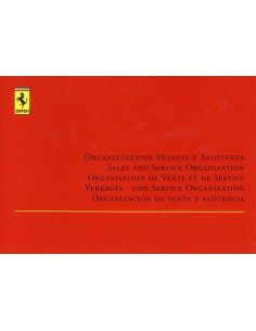 1999 FERRARI SALE & SERVICE ORGANISATION MANUAL 1465/99