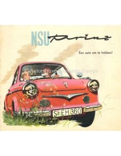 1959 NSU PRINZ I & II BROCHURE DUTCH
