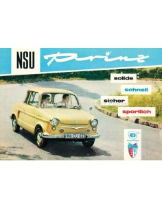 1959 NSU PRINZ I & II & 30 BROCHURE DUTCH