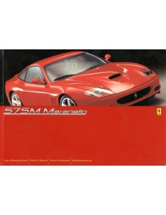 2003 FERRARI 575M MARANELLO OWNER'S MANUAL 1792/02