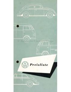 1953 VOLKSWAGEN TRANSPORTER PREISLISTE PROSPEKT DEUTSCH