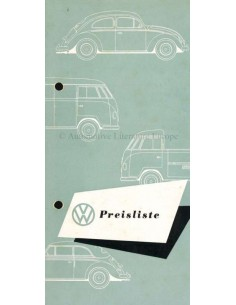 1953 VOLKSWAGEN TRANSPORTER PRICE LIST BROCHURE GERMAN