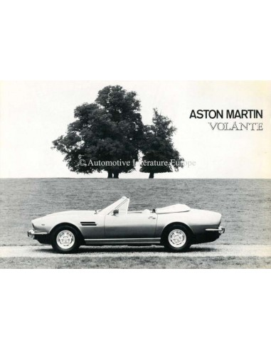 1977 ASTON MARTIN VOLANTE BROCHURE ENGELS