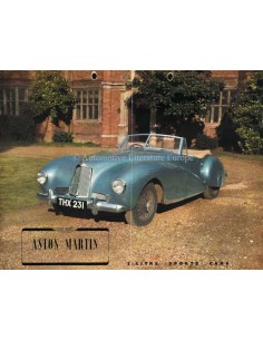 1948 ASTON MARTIN LAGONDA 2-LITRE SPORTS CAR BROCHURE ENGLISH