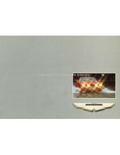 1985 ASTON MARTIN V8 SALOON / VANTAGE / VOLANTE PROSPEKT ENGLISCH