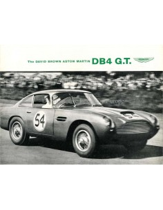 1959 ASTON MARTIN DB4 G.T. BROCHURE